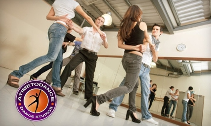 A Time To Dance - Multiple Locations: $29 for Six Dance Classes at A Time to Dance (Up to $67.50 Value)