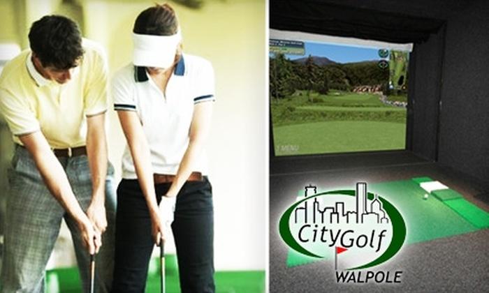 CityGolf Walpole - Multiple Locations: $45 for a Complete Golf-Swing Analysis at CityGolf Walpole