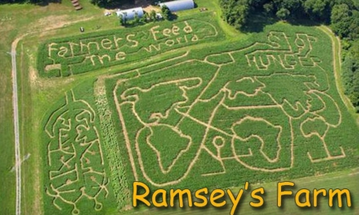 Ramsey's Farm - Brandywine: Ramseys Farm $8 for Two Corn Maze and Hayride Passes at Ramsey's Farm ($16 Value)