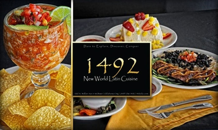 1492: New World Latin Cuisine - Downtown Oklahoma City: $15 for $30 Worth of Mexican & Latin-American Cuisine and Drinks at 1492: New World Latin Cuisine