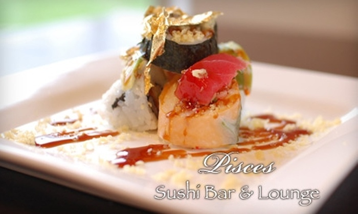 Pisces Sushi Bar & Lounge - Dilworth: $20 for $45 Worth of Sushi and Japanese Cuisine at Pisces Sushi Bar & Lounge