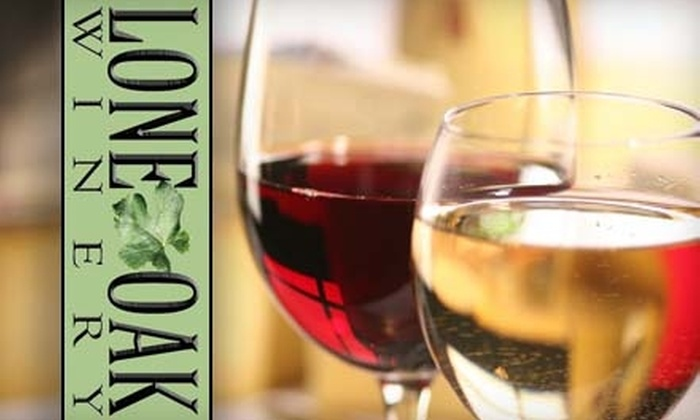 Lone Oak Winery - Burleson-Joshua: $15 for a Guided Wine Tour and Tasting for Two Plus Two Glasses of Wine at Lone Oak Winery (An up to $36.10 Value)