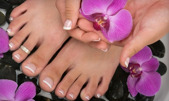 Day Lily Hair and Nail Salon - The Galleria: $20 for Mani-Pedi at Day Lily Hair and Nail Salon in Beecave ($40 Value)
