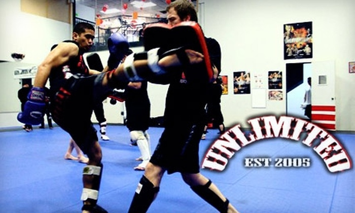 Unlimited MMA - Milpitas: $25 for One Month of Unlimited Kickboxing, Fitness Classes, Mixed-Martial-Arts Classes, and More at Unlimited MMA ($159 Value)