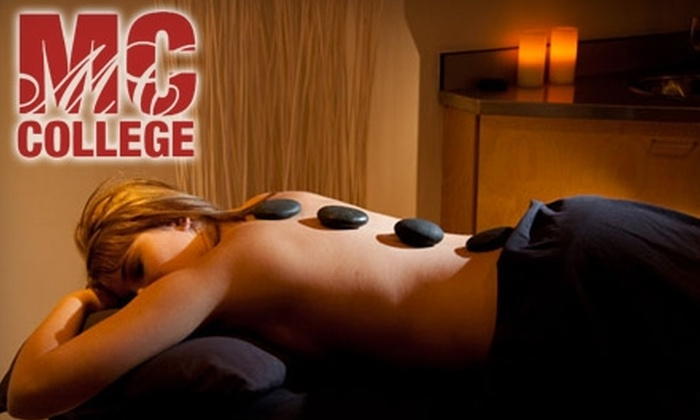 M.C. College - Downtown: $75 for Total Indulgence Day Spa Package ($160 Value) or $20 for Hot Stone Therapy ($40 Value) at M.C. College