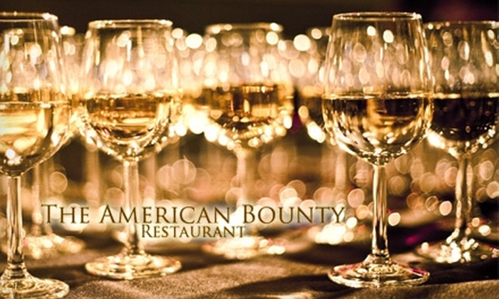 The American Bounty Restaurant and Winebar - Washington: $225 for Wine Experience and Meal for 10 People at American Bounty Restaurant and Winebar ($450 Value)