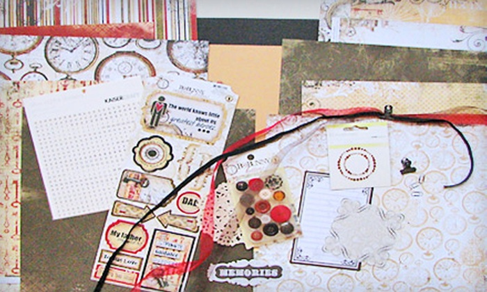 The Paper Trail - Seventy-First: Two Layout Classes or $7 for $15 Worth of Scrapbooking Supplies at The Paper Trail in Fayetteville