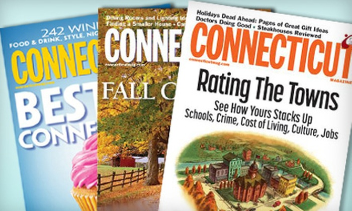 """Connecticut Magazine"" - Trumbull: $6 for a One-Year Subscription to ""Connecticut Magazine"" ($11.97 Value)"