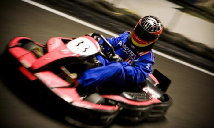 Grand Prix New York - Westchester County: Go-Kart-Outing Package for One or Two Kids or Adults or Eight-Person Party Package at Grand Prix New York in Mount Kisco (Up to 63% Off)