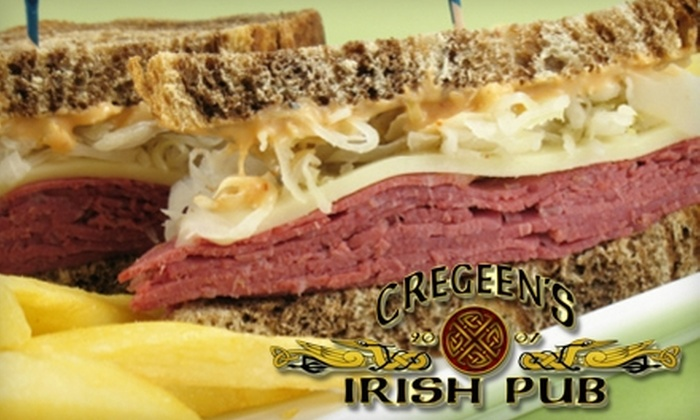 Cregeen's Irish Pub - North Little Rock: $10 for $20 Worth of Classic Irish Fare at Cregeen's Irish Pub