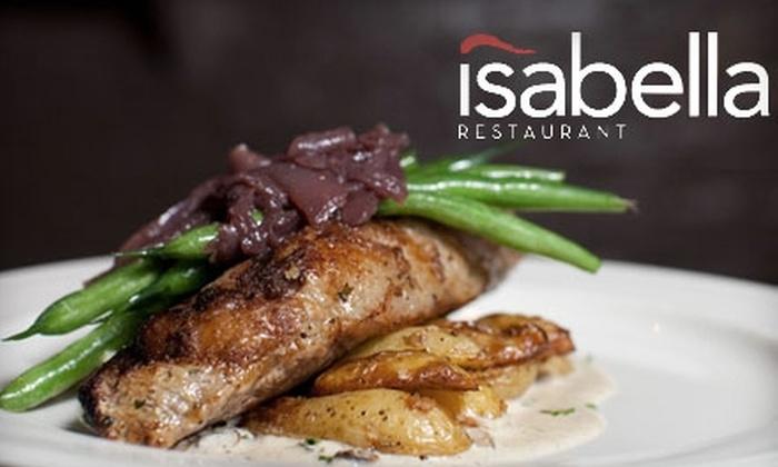 Isabella Restaurant - Dedham: $20 for $40 Worth of New American Cuisine at Isabella Restaurant in Dedham