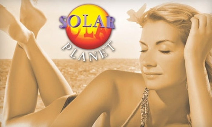 Solar Planet - Multiple Locations: $25 for a Full-Body Custom Airbrush-Tanning Session with Organic Solution and Pre-tan Prep Spray from Solar Planet ($55 Value). Choose from Five Locations.