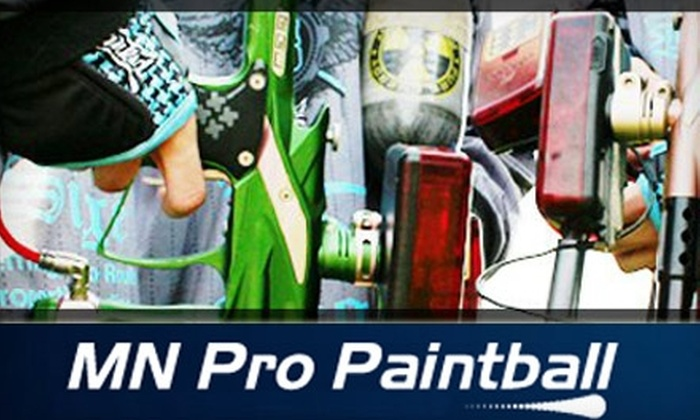 MN Pro Paintball - New Market: $85 for an Outdoor Laser Tag Adventure for up to Eight People at MN Pro Paintball ($200 Value)