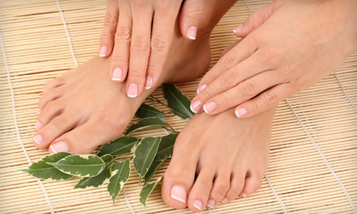 Old World Hair Salon - Southlake: $35 for a Shellac Manicure and Pedicure or an Acrylics Fill and Pedicure at Old World Hair Salon in Southlake (Up to $75 Value)