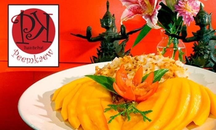 Peemkaew - Pearl: $10 for $20 Worth of Thai Cuisine and Drinks at Peemkaew