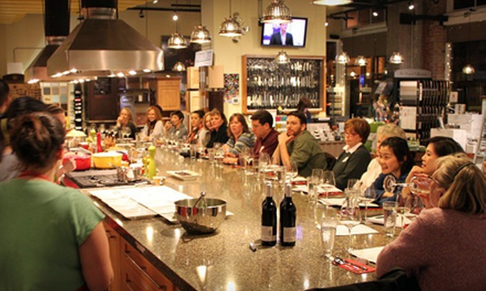 Dish it up! - Multiple Locations: $35 for Group Cooking Class ($70 Value) or $25 for $50 Worth of Kitchen Supplies  at Dish it up!