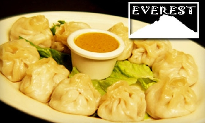 Everest on Grand - Macalester - Groveland: $10 for $20 Worth of Nepali and Tibetan Fare at Everest on Grand in St. Paul. Good for $30 Worth of Fare with Table of Four.
