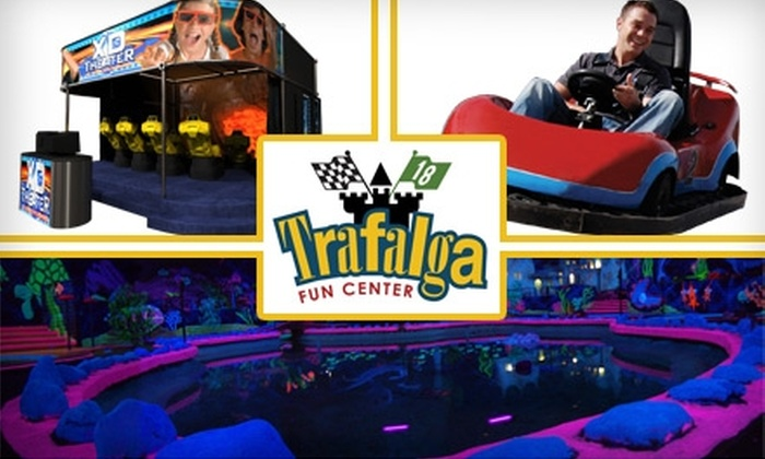 Trafalga Fun Center - Orem North: $8 for Three Activities and Four Arcade Tokens at Trafalga Fun Center ($16 Value)