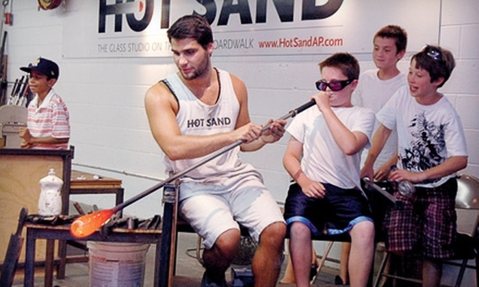 Hot Sand Glass Studio - Asbury Park: Glass-Bubble-Blowing Activity or Quick-Cast Activity at Hot Sand Glass Studio in Asbury Park