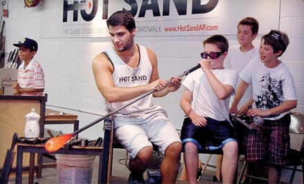 Hot Sand Glass Studio: Create Your Own Large Blown-Glass Bubble  - Hot Sand Glass Studio in  Asbury Park