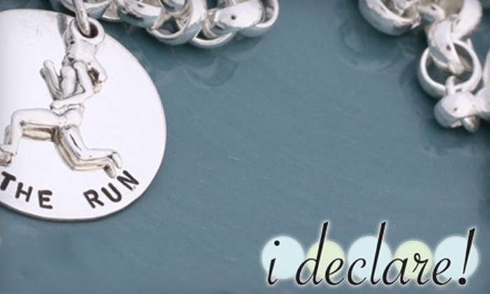 i declare!: $30 for $60 Worth of Custom-Made Silver Charms at i declare!