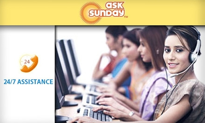 AskSunday - Seattle: $18 for 15 Personal-Assistance Requests Through AskSunday ($37 Value)