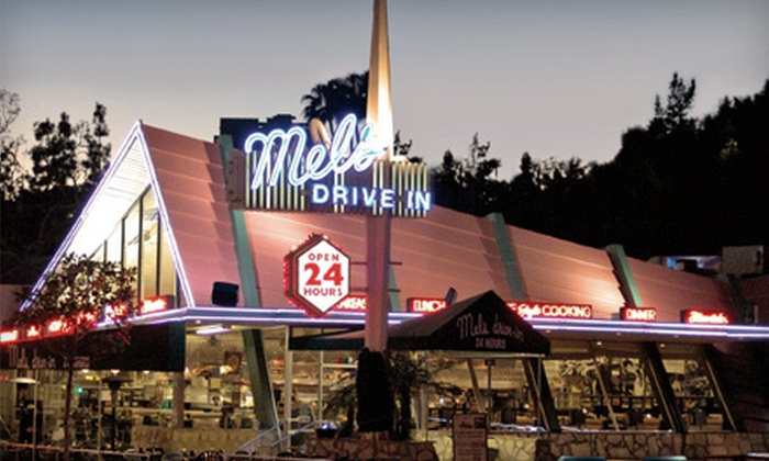 Mel's Drive-in - Multiple Locations: $12 for $24 Worth of All-American Burgers, Malts, and Breakfast Fare at Mel's Drive-in