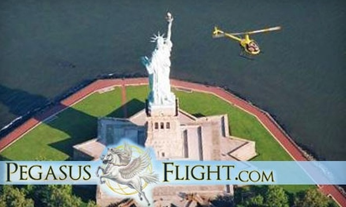 PegasusFlight.com - Linden: $168 for a Two-Person Half-Hour Helicopter Tour of New York City or $223 for a Two-Person Proposal Helicopter Ride from PegasusFlight.com