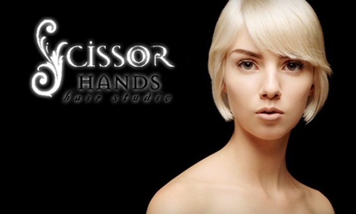 Scissorhands Hair Studio - Kernersville: $10 for a Haircut (Up to $25 Value) or $26 for a Single Process Color (Up to $65 Value) at Scissorhands Hair Studio