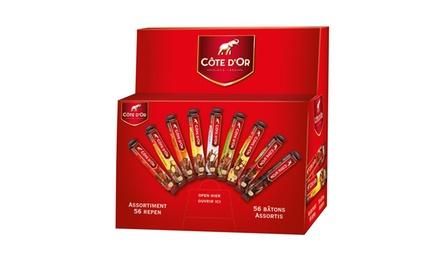 Côte d'Or chocoladebox met 32 of 56 chocoladerepen, verschillende smaken vanaf € 27,99, incl. levering tot korting