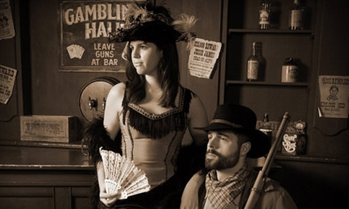 "Professor Bellows Specialty Photography - East Bloomington: $20 for Old-Time-Themed Photo Shoot for Two, Including Costumes and Two 5""x7"" Photos, at Professor Bellows Specialty Photography in Bloomington ($46 Value)"