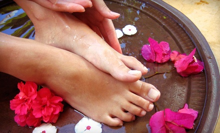 One Classic Mani-Pedi (a $40 value) - Pampered & Polished in Baltimore