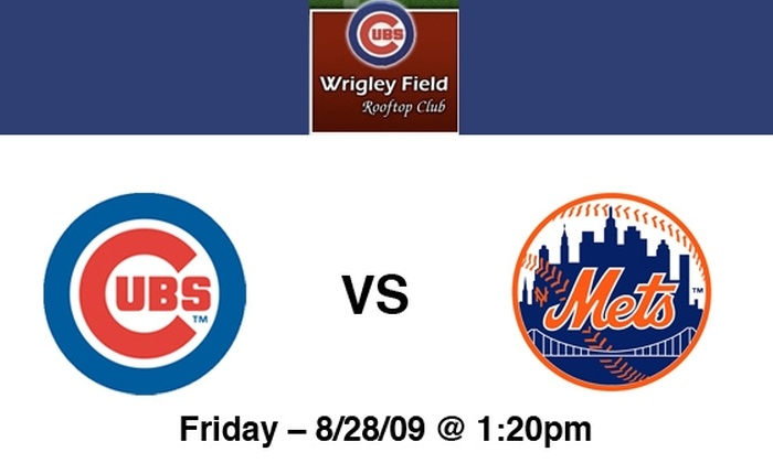 Wrigley Rooftop Club - Lakeview: Rooftop Tickets to Cubs vs Mets on 8/28 at 1:20 pm at Wrigley Rooftop: More Dates Available Below