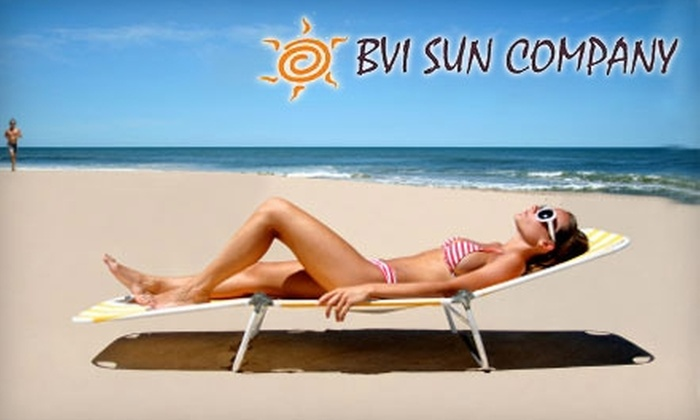 BVI Sun Company - Multiple Locations: $20 for 10 UV Tanning Sessions, or Two Airbrush Tans, at BVI Sun Company