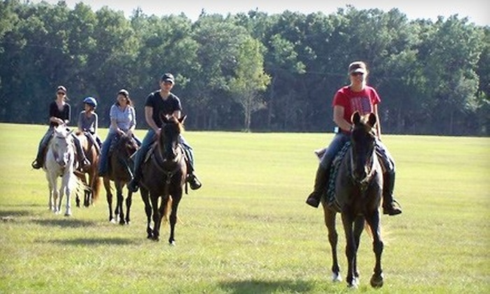 Cactus Jack's Trail Rides - Belleview: $55 for a 90-Minute Trail Ride for Two from Cactus Jack's Trail Rides in Ocala ($110 Value)