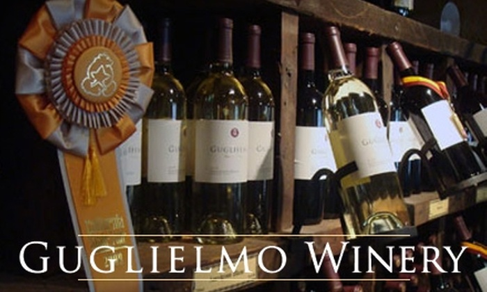 Emilio Guglielmo Winery - San Jose: $15 for Wine Tasting for Four, Bottle of Wine, and Chocolate Bar at Emilio Guglielmo Winery in Morgan Hill (Up to $35 Value)