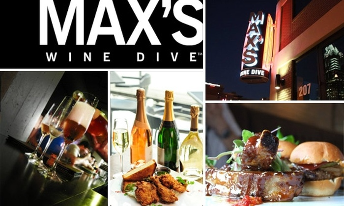 Max's Wine Dive - Downtown: $15 for $30 of Wine and Culinary Comfort at Max's Wine Dive