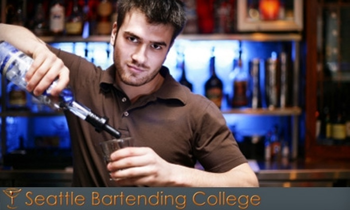 Seattle Bartending College - South Park: $59 for a Three-Hour Bartending Course at the Seattle Bartending College in Bellevue ($140 Value). Choose Between Two Options.
