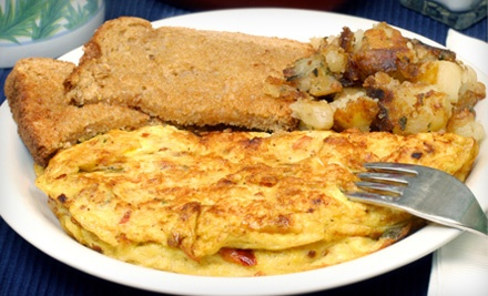 $10 Groupon for Classic Breakfast Fare, Valid Saturday or Sunday - Shaker's Cafe and Restaurant in Worcester