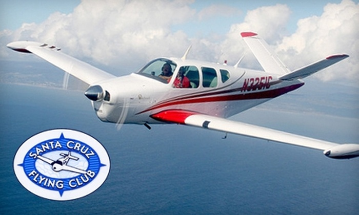 Santa Cruz Flying Club - Watsonville: $89 for a Learn to Fly Introductory Flight Package from Santa Cruz Flying Club ($180 Value)