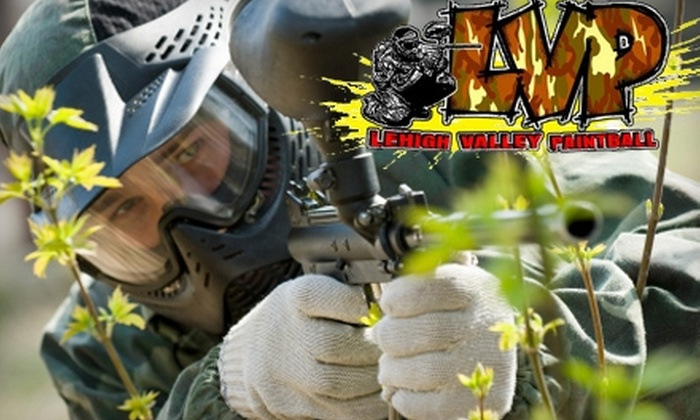 Lehigh Valley Paintball - Multiple Locations: $25 for an All-Day Paintball Pass, Including Equipment and 200 Paintballs, to Lehigh Valley Paintball in Emmaus or Hatfield (Up to $55 Value)