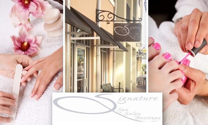 Signature Spa, Salon & Boutique - Tampa Bay Area: $60 for Spa Mani-Pedi at Signature Spa, Salon & Boutique