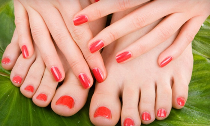 Orchid Salon and Spa - Westside: Mani-Pedi Packages for One or Two at Orchid Salon and Spa (Up to 57% Off). Three Options Available.