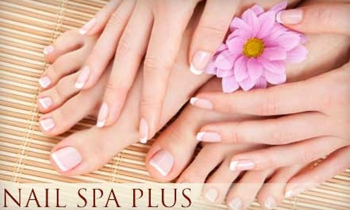 Nail Spa Plus - Multiple Locations: $34 for Mani-Pedi (Up to $78 Value) or $26 for Gelcaps Nail Extensions (Up to $55 Value) at Nail Spa Plus