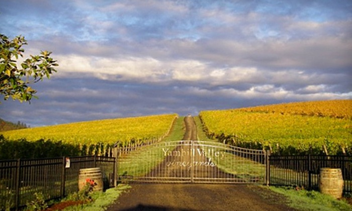 Yamhill Valley Vineyards - McMinnville: $15 for a Wine Tasting with Take-Home Wineglasses for Two at Yamhill Valley Vineyards in McMinnville ($35 Value)