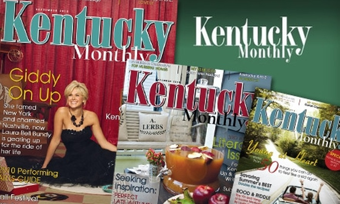 """Kentucky Monthly - Louisville: $10 for a One-Year Subscription to """"Kentucky Monthly"""" Magazine"""