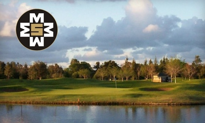 Mile Square Golf Course - Fountain Valley: $28 for Nine Holes of Golf for Two at Mile Square Golf Course in Fountain Valley (Up to $56 Value)