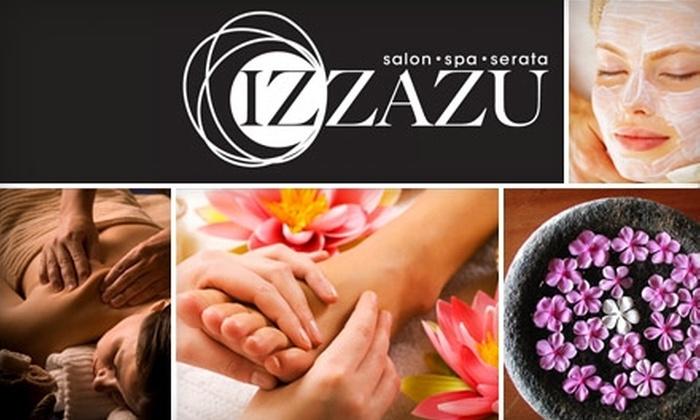 Izzazu Salon & Spa - Multiple Locations: $40 for a Spa Manicure & Spa Pedicure at Izzazu Salon & Spa