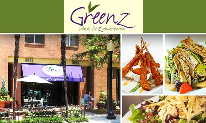 Greenz - Dallas: $10 for $25 of Creative Salads, Sandwiches, Soups, and Nonalcoholic Drinks at Greenz