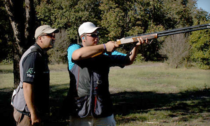 Fossil Pointe Sporting Grounds - Decatur: Day of Clay-Target Shooting Plus Golf Cart at Fossil Pointe Sporting Grounds in Decatur